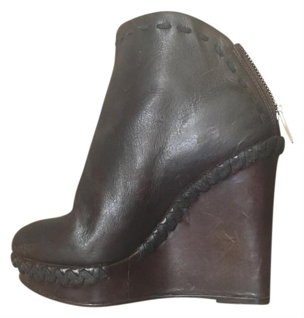 Item - Black Diana Wedge Ankle Boots/Booties Size US 7 Regular (M, B)