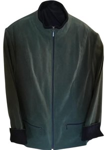 JM Collections Faux Suade Green Jacket Olive green Jacket