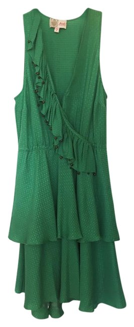 Preload https://img-static.tradesy.com/item/22213006/tracy-reese-orangered-frock-by-green-silk-ruffle-short-cocktail-dress-size-0-xs-0-1-650-650.jpg