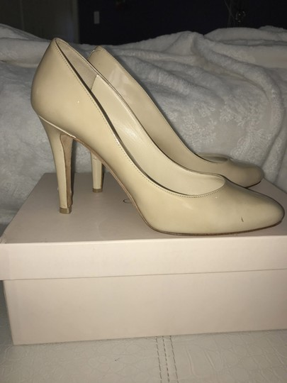 Jimmy Choo Patent Leather Nude Pumps