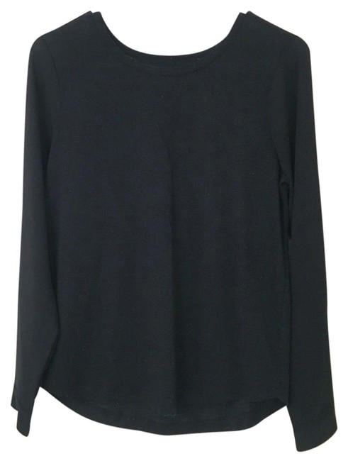 Preload https://img-static.tradesy.com/item/22213074/ann-taylor-loft-black-long-sleeved-blouse-size-2-xs-0-1-650-650.jpg