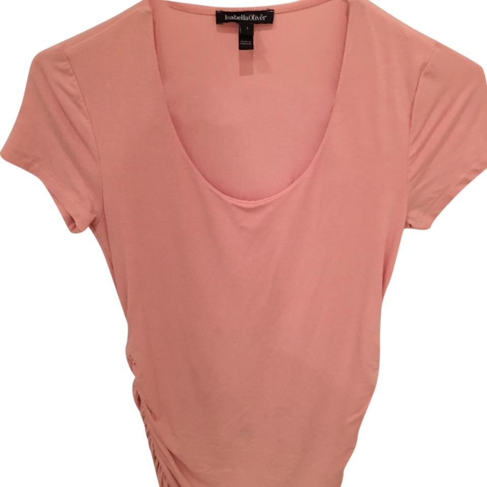 f5b0196eaa963 Isabella Oliver Light Pink Scoop Neck Maternity Top. Size: 2 (XS) ...