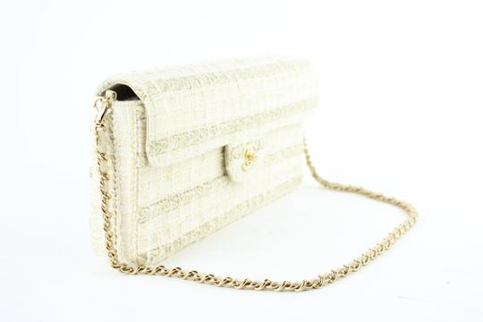 Chanel Tweed Flap Woven Flap Fur Shoulder Bag