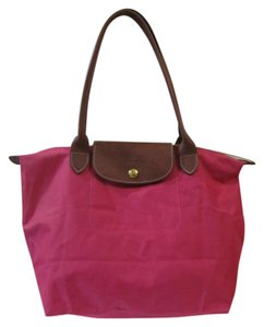 Longchamp Tote in Pink Peony