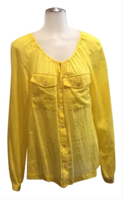 Preload https://img-static.tradesy.com/item/22213255/tory-burch-yellow-20689-tunic-size-6-s-0-1-650-650.jpg