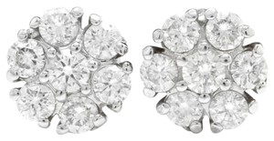Other 1.15Ct Natural Diamond 14k Solid White Gold Earrings
