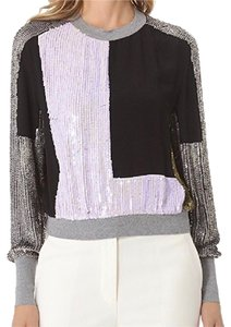 3.1 Phillip Lim Sequin Sweatshirt Silk Sweater