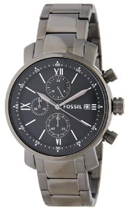 Fossil BQ1004 Men's Gunmetal Steel Band With Grey Analog Dial Watch NWT