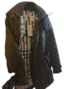 Burberry Timeless Piece Cold Weather Timeless Addition Check Print Khaki green Jacket