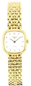 Longines Vintage Gold Plated White Dial Quartz Watch