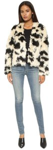 Tibi Cozy Faux Fur Animal Print Leopard Fur Coat