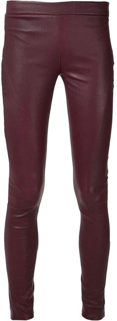 Item - Burgundy Red Leather Pants Size 4 (S, 27)