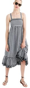 Black white Maxi Dress by J.Crew Gingham Eyelet Maxi Summer