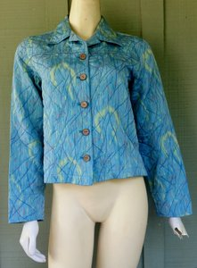 Coldwater Creek Textured Aqua Jacket