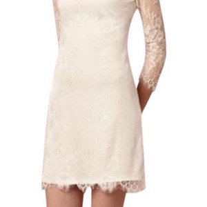 BHLDN White Lace Casual Wedding Dress Size 2 (XS)