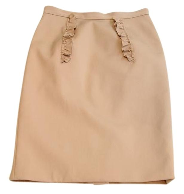 Item - Pink Nude Ruffle Pencil Skirt Size 6 (S, 28)