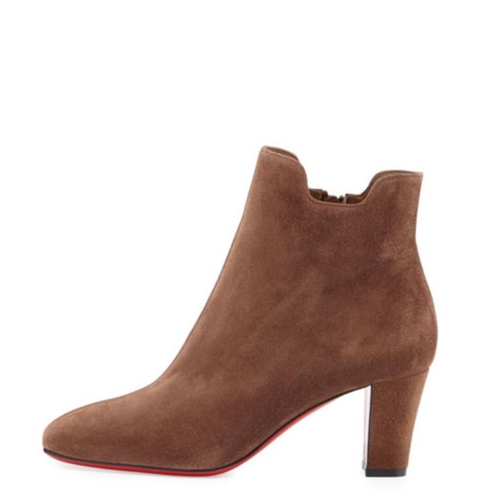 Christian Louboutin Chatain Brown Tiagadaboot Boots/Booties Suede 70mm Red Sole Boots/Booties Tiagadaboot 7b81b6