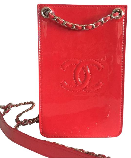 Item - Crossbody Phone Case Red Patent Leather Messenger Bag