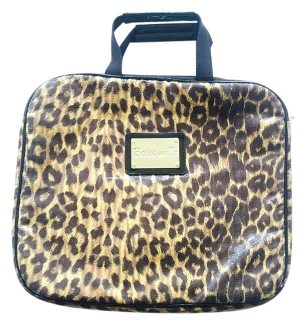 Item - Leopard and Gold Polyurethane Laptop Bag