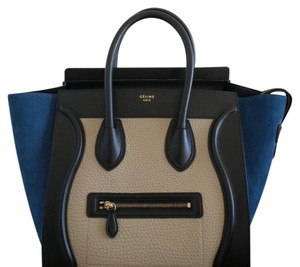 Céline Tote in blue/cream