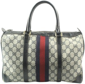 Gucci Satchel in Navy & Ivory GG