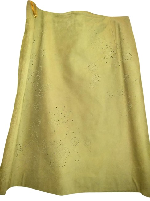 Item - Light Brown Leather Perforated Skirt Size 10 (M, 31)