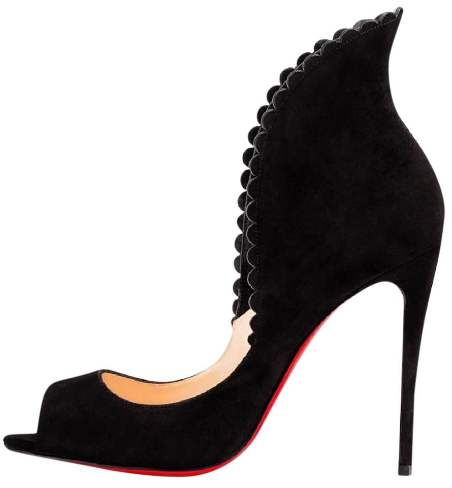 113f532a0c Christian Louboutin Pijonina Stiletto Peep Toe Pigalle Scalloped black  Pumps Image 0 ...