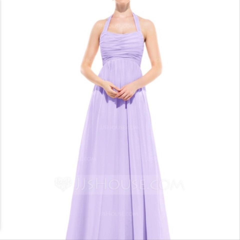 Jj 39 s house lavender chiffon empire halter floor length for Jj wedding dresses reviews