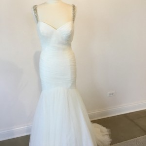 8d3035a0cc82 Wtoo Ivory Soft Netting Holly From By Watters Formal Wedding Dress Size 14  (L)