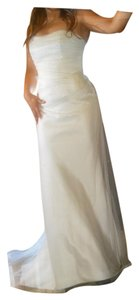 Augusta Jones White Covered In Tulle with Swarovski Feminine Wedding Dress Size 8 (M)