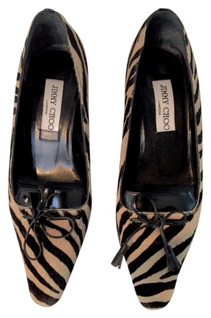 Jimmy Choo Brown/Tan Printed Pony Hair with Leather Trim Tassel Pumps Size EU 36 (Approx. US 6) Regular (M, B) Jimmy Choo Brown/Tan Printed Pony Hair with Leather Trim Tassel Pumps Size EU 36 (Approx. US 6) Regular (M, B) Image 1