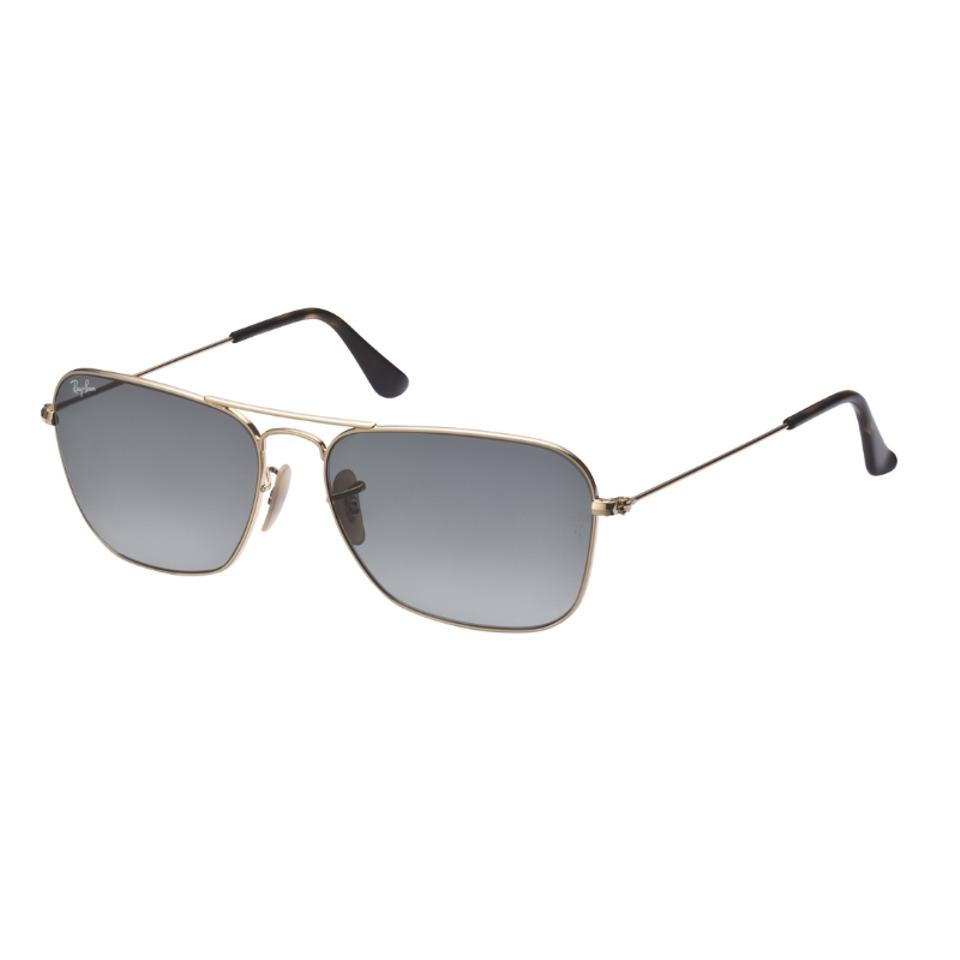 Ray-Ban Grey Gold Caravan - Frame Gradient Lenses 58mm Non-polarized ...