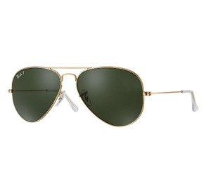 Ray-Ban RAY BAN Sunglasses RB 3025 001/58 Gold Aviator Polarized 58mm
