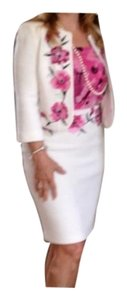 St. John White Suit With Accent Dress