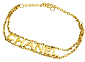 CHANEL CHANEL Vintage Gold Tone 2 Way Chain Belt - Necklace Rare