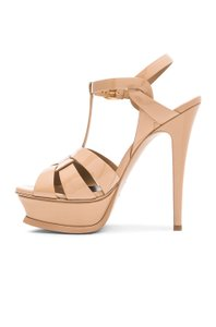 Saint Laurent Ysl Tribute Studded Rockstud Dark Nude Sandals