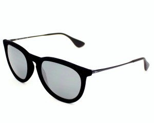 Ray-Ban Ray-Ban Men's Erika Oval Sunglasses,Velvet Black,54 mm RB4171