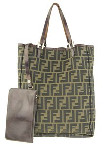 Fendi Set Gift Monster Tote in Brown Zucca