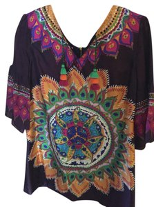 Phoebe Couture short dress Multi Boho Colorful Chic Tassles on Tradesy