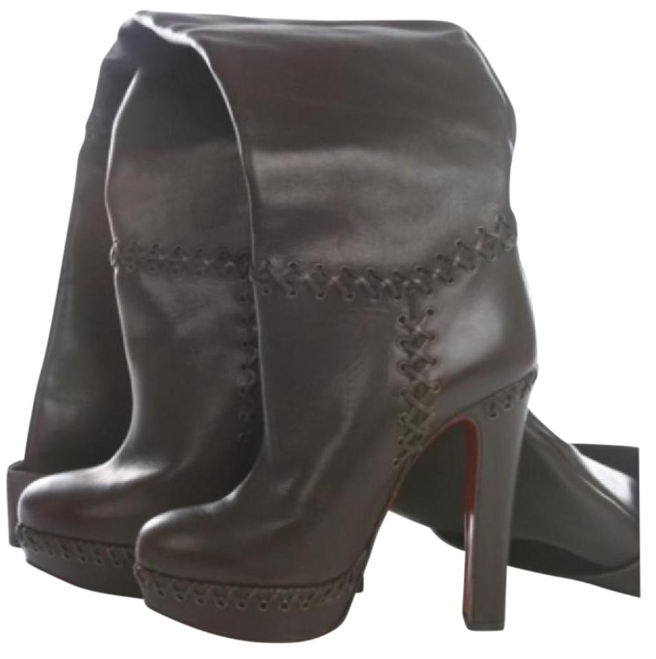 Christian Louboutin Brown Tres Tres Brown Contente Boots/Booties c56123