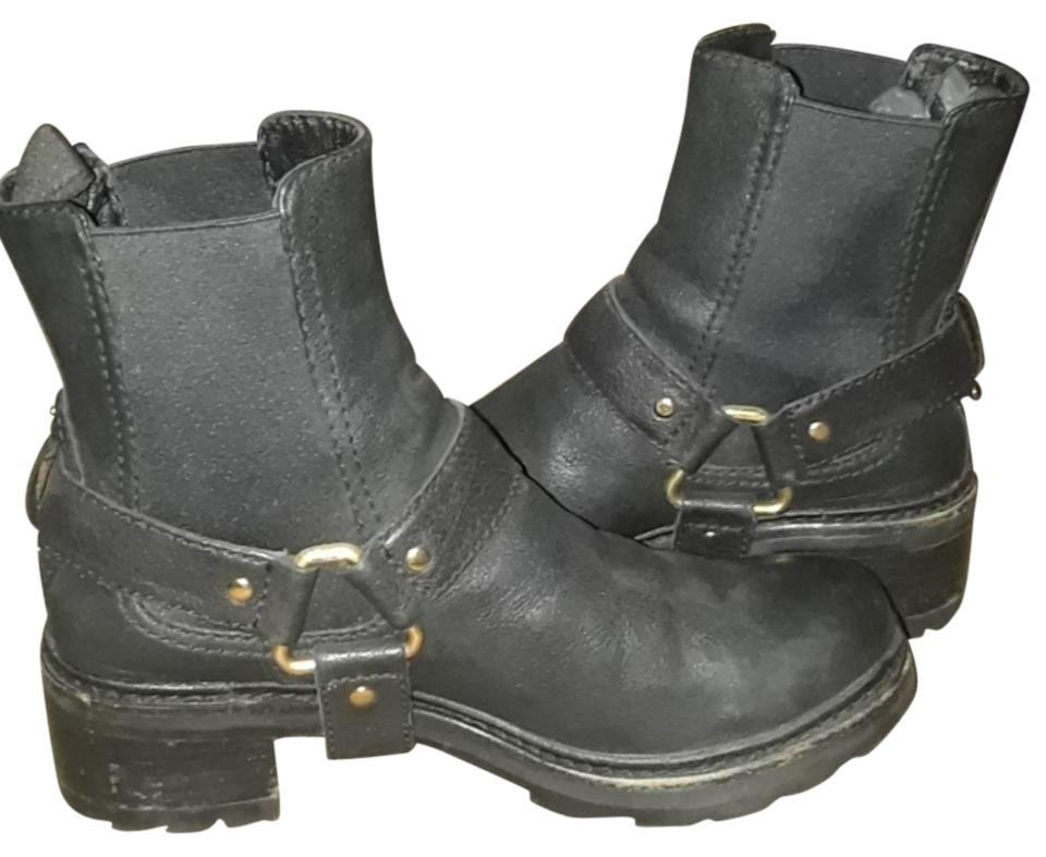Women's Black Prada Black Women's Rider Boots/Booties Online shop f73954