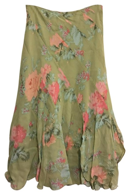 Item - Green Floral Rn# 77751 / Ca# 19117 Skirt Size 2 (XS, 26)