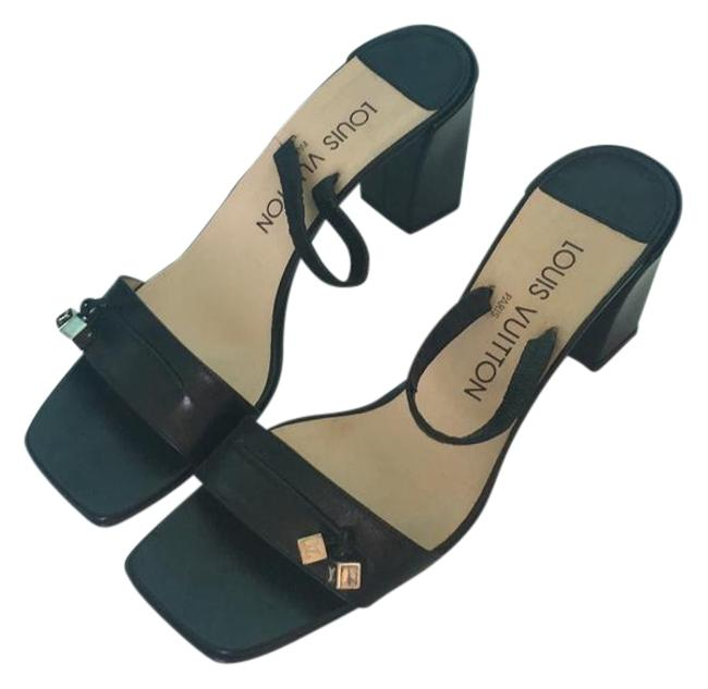 Chunky Heels Sandals Size EU 36 (Approx