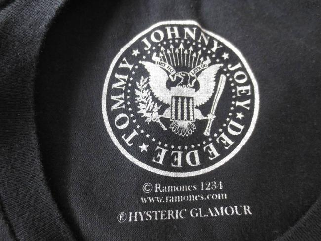 Hysteric Glamour Punk Ramones 1978 T Shirt Black