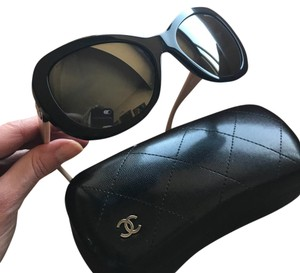 Chanel butterfly mirror black and beige