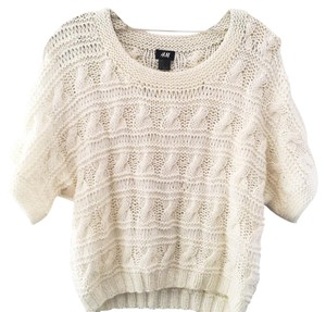 H&M Cable Hand Knit Hand Knit Cream Knit Sweater