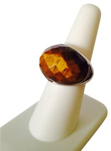 NWOT Faceted Tigers Eye Gemstone In Sterling Silver, Size 7