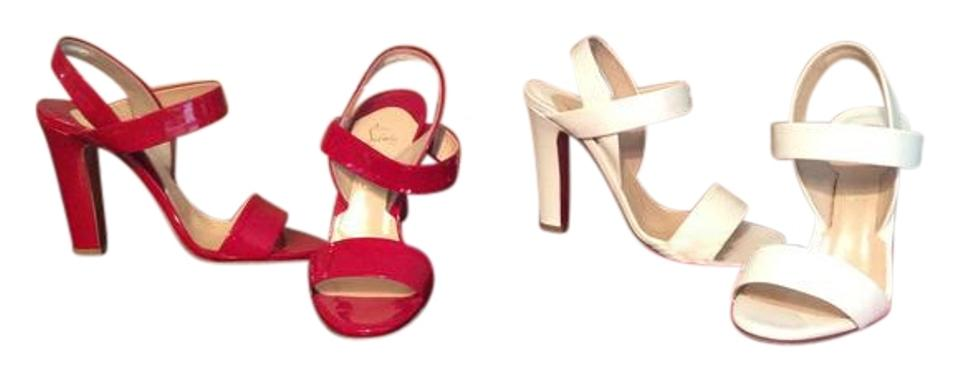 Christian Louboutin Etrier Red Or White Choice Etrier Louboutin 100 Patent Calf Sandals 1116e2