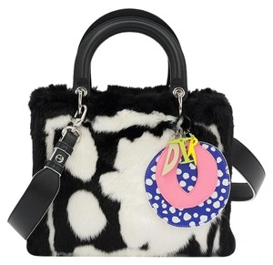 Dior Lady Daniel Lady Limited Tote in black white pink green blue