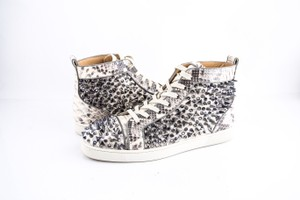 9a948982a6a7 Christian Louboutin Louis Pik Pik Orlato Flat Black-white Python Shoes